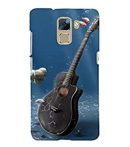 Vizagbeats Viloin In Sea Back Case Cover for Huawei Honor 7