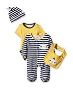 Pitter Patter Baby Gifts Conjunto (Azul / Amarillo)