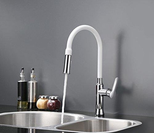 uhm-leva-singola-di-ottone-pull-down-rubinetto-di-cucina-chrome-vernice-bianca