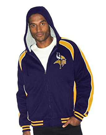 NFL Minnesota Vikings Polyfilled Color Blocked Fleece Jacket Quilt Lined Mens by G-III Sports