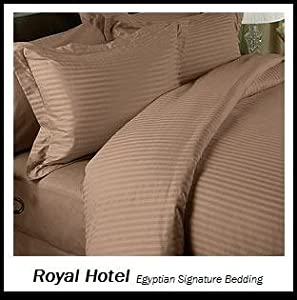 Fitted Sheets Egyptian Cotton Bedding Hotel Quality 200TC Cover Plain Royal Blue