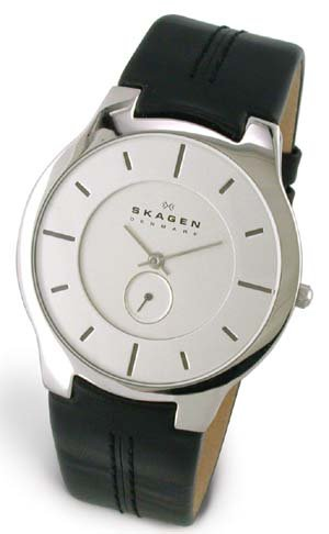 Skagen Men's 433XLSLBCM Leather Watch