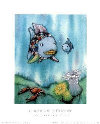 Marcus Pfister The Rainbow Fish Art Print Poster - 16x20