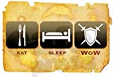 41RYFcTJ1tL. SL160  Eat Sleep WOW die cut vinyl decal / sticker World of Warcraft