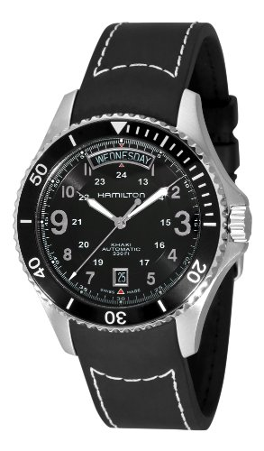 Hamilton Men's H64515333 Khaki King Pilot Black Day Date Dial Watch