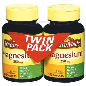 Nature Made Magnesium Tablets, 250Mg, 100 Count (Pack Of 2)