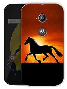 "Running Horse In Sunshine Printed Designer Mobile Back Cover For ""Motorola Moto E2"" By Humor Gang (3D, Matte Finish, Premium Quality, Protective Snap On Slim Hard Phone Case, Multi Color)"