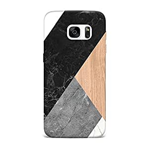 Samsung S6 Edge Case, Samsung S6 Edge Hard Protective SLIM Printed Cover [Shock Resistant Hard Back Cover Case] for Samsung S6 Edge -Abstract Mosaic
