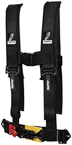 Dragonfire Racing 4-Point Racing Harness Restraints - 2in Sewn Black - Youth 14-0022 (Racing Harness 4 Point compare prices)
