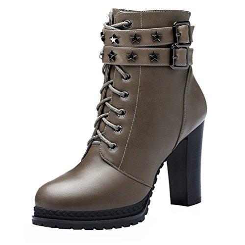 fq-real-women-fashion-pu-lace-up-double-belt-buckle-metal-platform-chunky-high-heel-shoes45-uk-grey