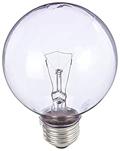 GE Lighting 42360 60-Watt G25 Reveal Globe, Clear