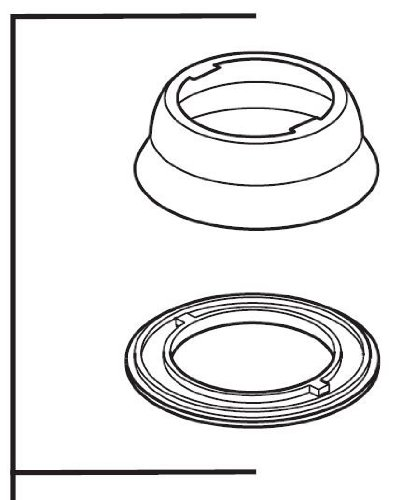 Delta Faucet RP38644 Saxony, Escutcheon and Gasket for Kitchen, Chrome