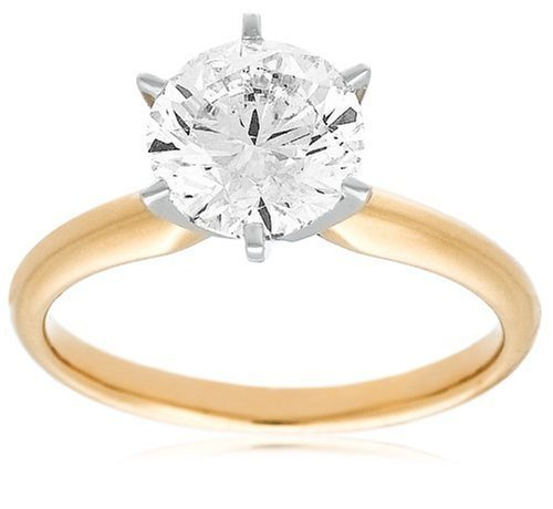IGI Certified 14k Gold Round-Cut Diamond Solitaire