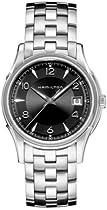 Hamilton Jazzmaster Quartz Black Dial Metal Bracelet Mens Watch H32411135