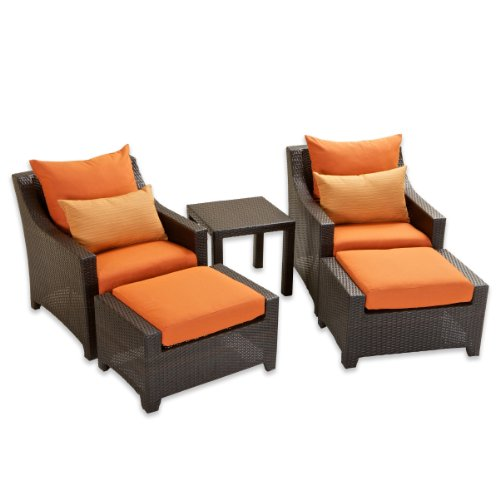 RST Brands OP-PECLB5-TKA-K Deco 5pc Club Chair & Ottoman Set - Tikka photo