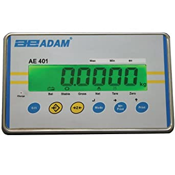 Adam Equipment AE 402 Stainless Steel LCD Weight Indicator, For Washdown Applications