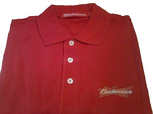 polo-uomo-t-shirt-pubblicitaria-birra-budweiser-taglia-l-colore-rosso-manica-corta