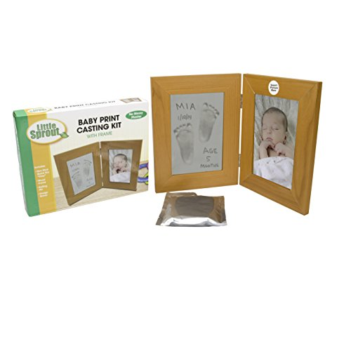 "Baby Print Casting Kit - Air Dry No Mess Keepsake Kit with 4"" X 6"" Picture Frame - No Baking Required - 1"