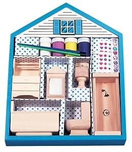 make your own dollhouse furniture bathroom toys games. Black Bedroom Furniture Sets. Home Design Ideas