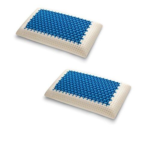 Coppia 2 Cuscino Blue2Air in MyMemory Memory Foam Termosensibile Altamente Traspirante - 100% Made in italy - Fodera Cotone Naturale