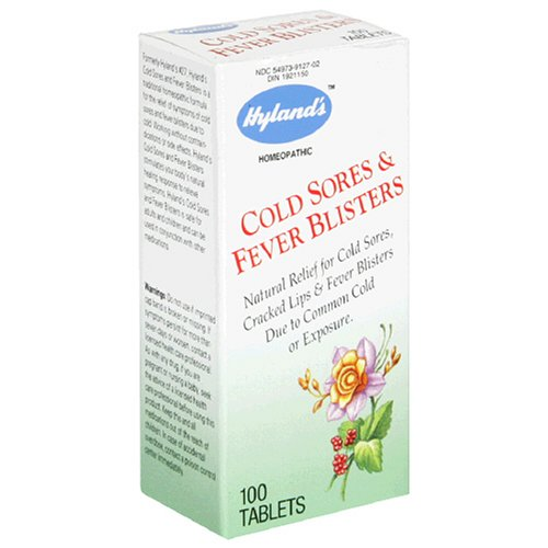 Hyland's Cold Sores & Fever Blisters, 100 Tablets (Pack of 3)
