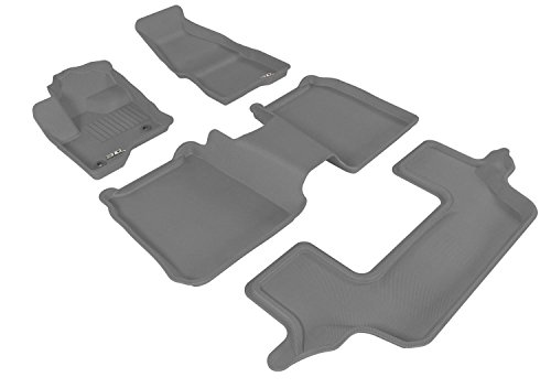 Kagu Rubber Tan 3D MAXpider Front Row Custom Fit All-Weather Floor Mat for Select Toyota Yaris Models