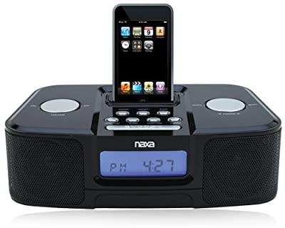 Naxa NX-3103 Alarm Clock Radio iPod Docking Station by Naxa