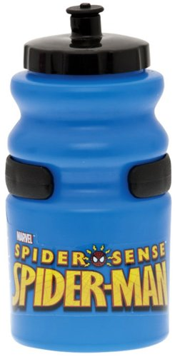 Bell Spiderman Super 12-Ounce Plastic Water Bottle (Blue)
