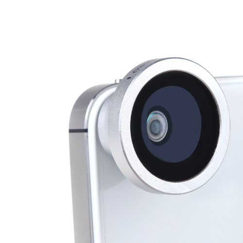 Docooler 180 Degree Fisheye Macro Lens Magnetic Mount For Iphone 5S 5 Galaxy S4 S3 Note 3 Htc 2 In 1 (Silver)