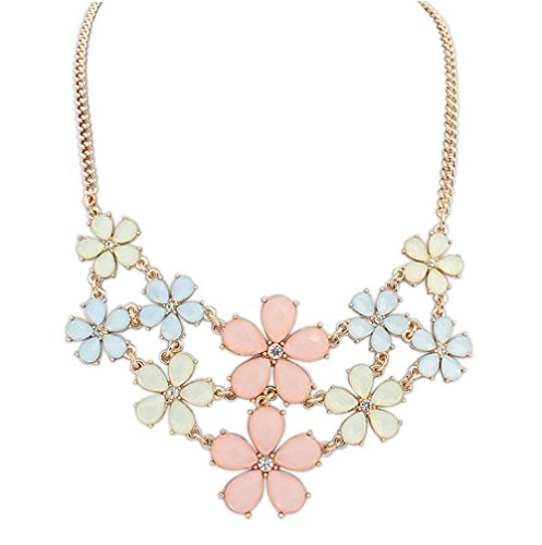Winter's Secret Easy Dressing Small Sweet Pure Fresh Color Flowers Female Statement Necklace