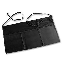 Linteum Textile 3-Pocket Black Waiter WAIST APRON 23x12 in. 2-Pack
