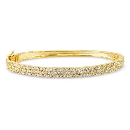Sterling Silver 5 CT TGW Cubic Zirconia Tennis Bangle Bracelet