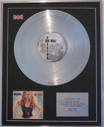 """Platinum-CD-Cover adesiva SHAKIRA-SHE WOLF """""""