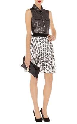 Check Print Skirt