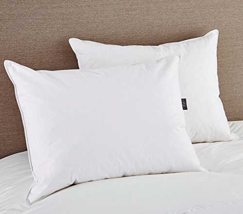 Puredown white goose feather and down pillow standard for Best down pillows consumer reports