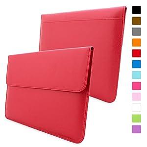 """Snugg Macbook Air & Pro 13"""" Tasche (Rot) - Leder Hülle mit lebenslanger Garantie für MacBook Air 13"""" & MacBook Pro 13"""""""