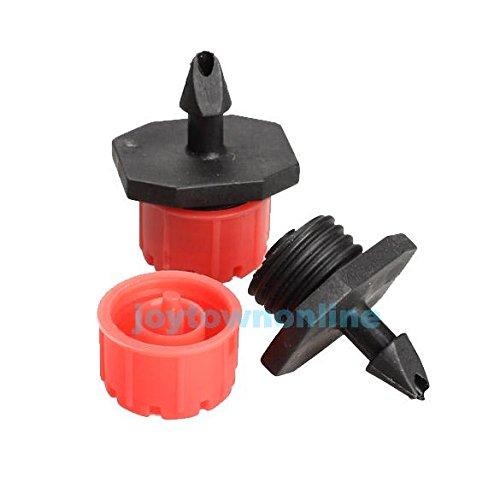 50Pcs Micro Flow Dripper Drip Head 1/4 Inch Hose Garden Irrigation Misting