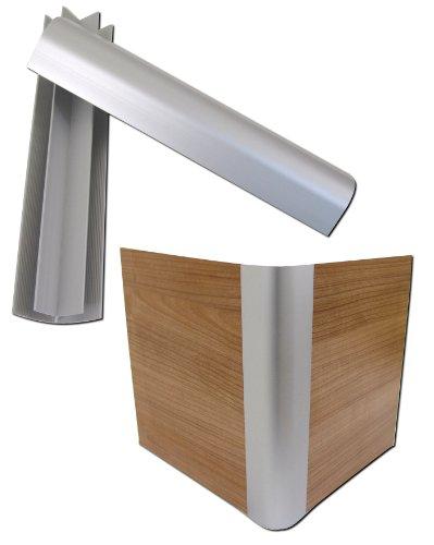 4x-Aluminium-Profile-Wasserbetten-Sockel-Aluecken-Ecken-Podest-Eckprofile-Blenden