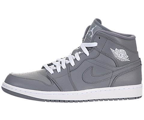 Air Jordan 1 Mid - Cool Grey / White-Cool Grey, 9 D Us front-1051119