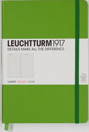 Leuchtturm 338717 Notebook Medium (A5) lined, Hardcover, 249 numbered pages, lime