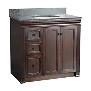 Foremost SHEA3621DL Shawna 36-Inch Bath Vanity with Left Side Drawers