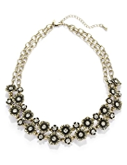 Per Una Diamanté Floral & Bead Necklace