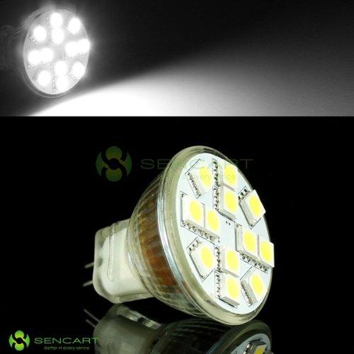 Mr11 Gu4 12-Smd 5050 Led 12/2.5W 6000K Pure White Reading Spot Light Bulbs