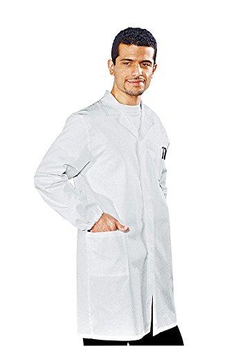060000 Camice Uomo - Isacco Bianco per Abbigliamento per settori sanitario, benessere ed estetico Uomo Camici