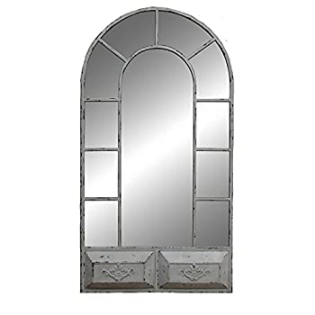 Sagebrook Home White Vintage Window Mirrored