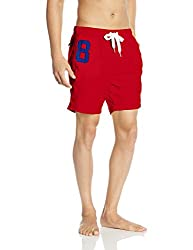 Superdry Men's Synthetic Shorts (5054265365232_M30MP005_X-Large_Hyper Red)