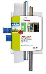 ALCLEAR 960008 Profi-Fenster-Set enthält Einwascher und Abziehgummi mit Griff, Ultra-Microfaser Fenstertuch 40 x 45 cm, 3-teilig