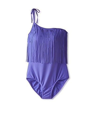 Envya Swim Women's One-Shoulder Fringe Swimsuit
