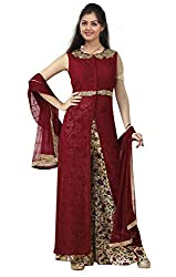 Styles Closet latest designer collection for Maroon Plazo Style salwar Suit