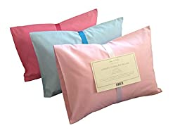 Toddler Pillow - 13x18 - with Pink or Blue Pillowcase - Hypoallergenic - Comfy for Your Kids at Home or Travel - Machine Washable - Made in the USA